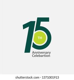 15 th Anniversary Celebration Vector Template Design Illustration
