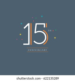 15 th anniversary logo design vector element