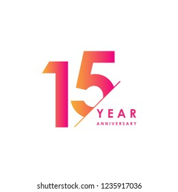 15 Year Anniversary Vector Template Design Illustration