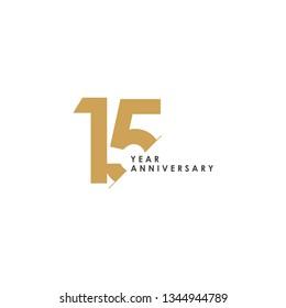 15 Year Anniversary Vector Template Design Illustration