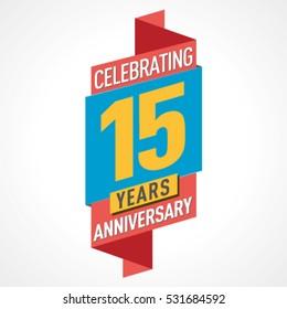 15 Years Anniversary Celebration Design.