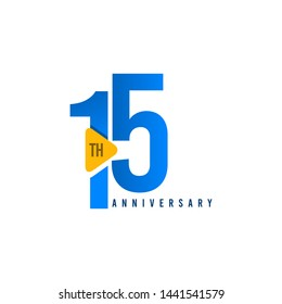 15 Years Anniversary Celebration Vector Template Design Illustration