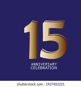 15 Years Anniversary Celebration Vector Template Design Illustration