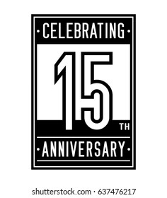 15 years anniversary design template. Vector and illustration.