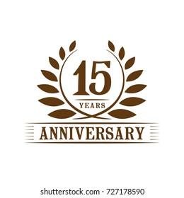 15 years anniversary logo template.