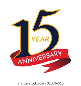 15 years anniversary Template logo