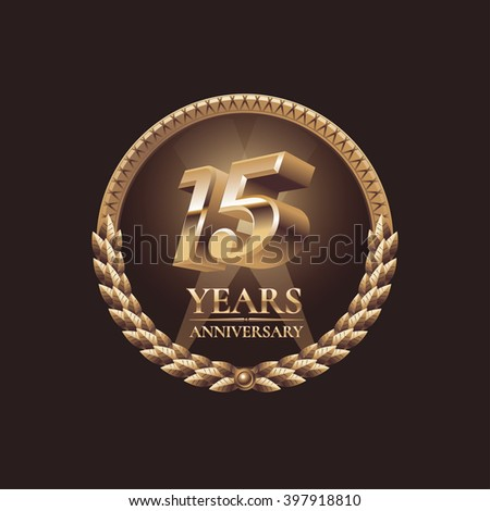 15 Years Anniversary Vector Icon Symbol Stock Vector Royalty Free