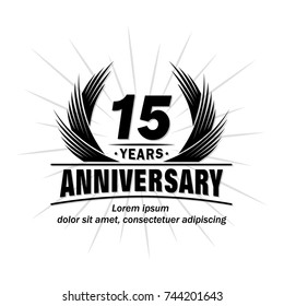 15 years design template. Anniversary vector and illustration template.