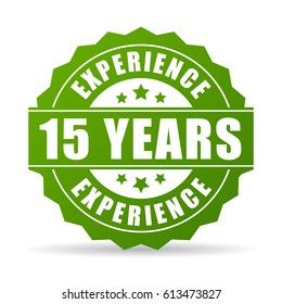 15 years experience vector icon illustration on white background