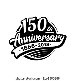 150 years anniversary design template. Vector and illustration. 150th logo.