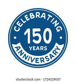 150 years anniversary logo template. Vector and illustration.