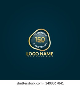 150 years anniversary logo.celebrating 150 years, anniversary logo