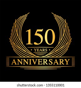 150 years design template. 150th anniversary. Vector and illustration.