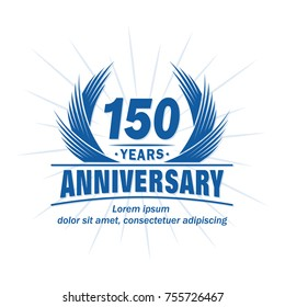 150 years design template. Anniversary vector and illustration template.