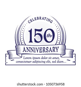150th anniversary design template. Vector and illustration.