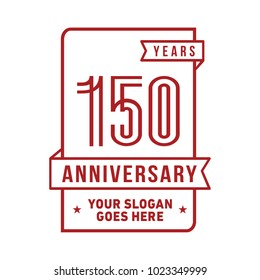 150th anniversary logo. Vector and illustration.
