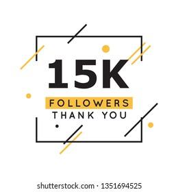 15k followers thank you design template