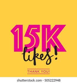 15K likes online social media thank you banner