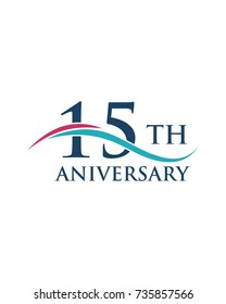 15th anniversary, logo, icon, vector