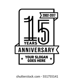 15th anniversary logo. Vector and illustration.15th Anniversary.
