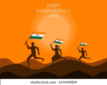 15th august independence day India,illustration in vector