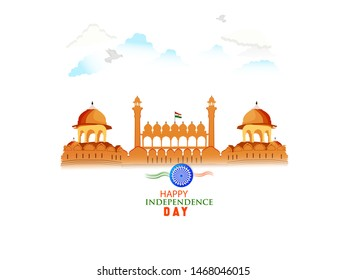 15th August, Independence Day poster or template design with Ashoka