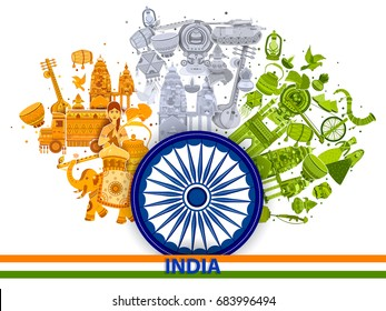 15th August Independence of India tricolor background in vector