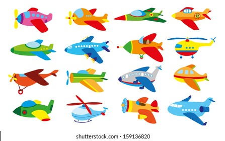 16 baby's airplanes set