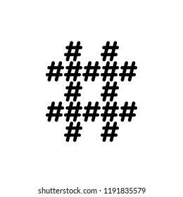 16 hashtags reassembling one supper hashtag symbol