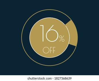 16% OFF banner, 16% Discount Offer