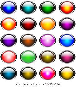 16 oval button set
