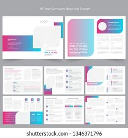 16 Page Company Profile Brochure Design
