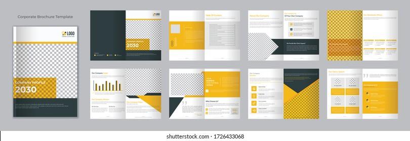 16 page minimal business brochure design template
