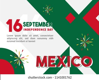 16 September - Celebrating Mexico Independence Day Banner Vector Illustration