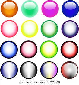 16 Vector Buttons  for website usage