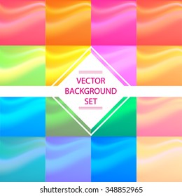 16 vector colorful square backgrounds