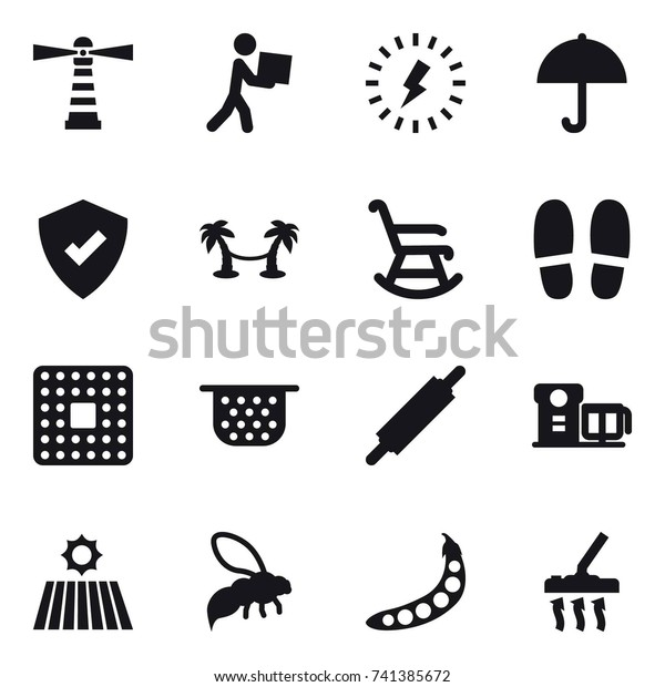 Peachy 16 Vector Icon Set Lighthouse Courier Stock Vector Royalty Evergreenethics Interior Chair Design Evergreenethicsorg
