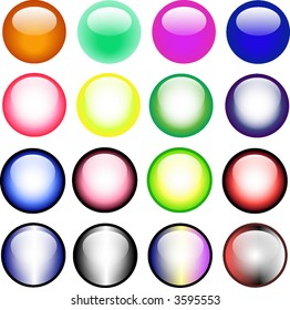 16 Vector Web Buttons