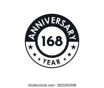 168 years anniversary badge vector design