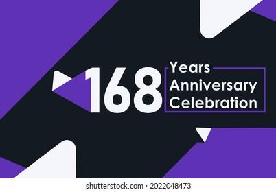 168 years anniversary celebration modern banner template design