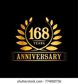 168 years anniversary logo template.