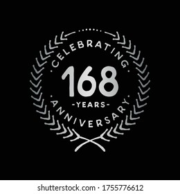 168 years design template. 168th logo. Vector and illustration.