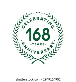 168 years design template. 168th vector and illustration.