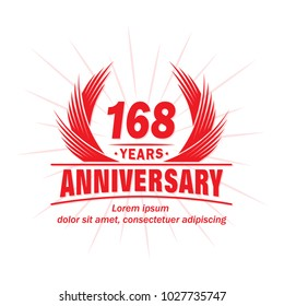 168 years vector and illustration template.