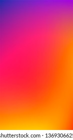 16:9 Vertical Degrade Gradient Instagram Style Abstract Blur Background. Yellow Orange Red Pink Purple Blue Color Transition Unfocused Smooth Bright Vector Mesh. Trendy Fluid Lights. Multicolor bokeh