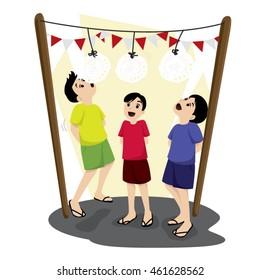 17 August Indonesian Game Celebration -  Lomba Makan Kerupuk