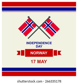 17 May Norway Independence Day - Norway National Day Celebration Card, Background, Badges Vector Template