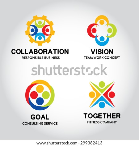 17 set team work badge label stock vector royalty free 299382413