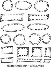 18 Hand Drawn Doodle Frames Design Elements Isolated Vector Illustration. Doodle Frames .