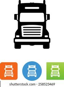 18 Wheeler Semi Truck icon